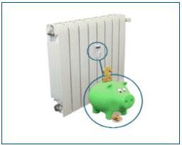 ahorro en calefaccion con repartidores de costes